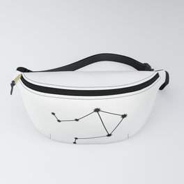 Libra Star Sign Black & White Fanny Pack