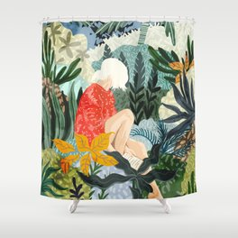 The Distracted Reader Shower Curtain