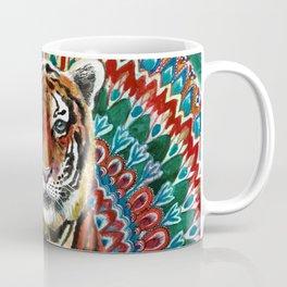 Tiger Watercolor Yoga Mandala Coffee Mug