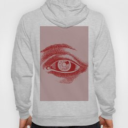 Retro Vintage Color Eye Pattern Hoody