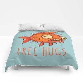 Free Hugs Cartoon Blowfish Comforters