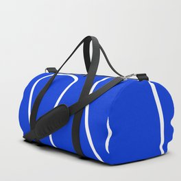Blue Abstract Wave Duffle Bag