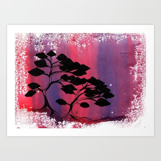 Leafy Bonzai Art Print