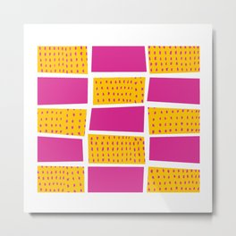 Geometric Pop Metal Print