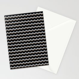 Luxury silver metal stripes Stationery Cards