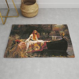 The Lady of Shalott by John William Waterhouse (1888) Rug