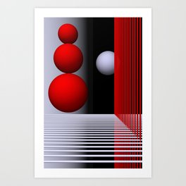 games with geometry -16- Art Print