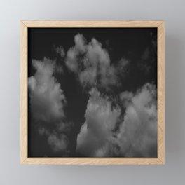 Cloudy black Framed Mini Art Print