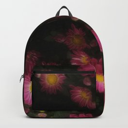 Purple Flowers with Yellow Centers Backpack
