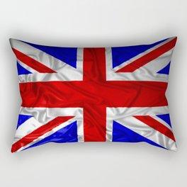 Wrinkled Union Jack Flag Rectangular Pillow