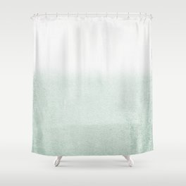 FADING GREEN EUCALYPTUS Shower Curtain