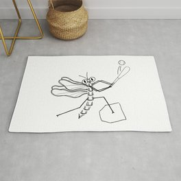 Summer pleasures - baseball Rug