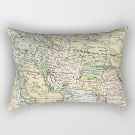 Asian Russian European African Vintage Map Rectangular Pillow