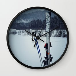 ski equipment Wall Clock