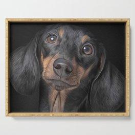 Drawing Dog breed dachshund Serving Tray