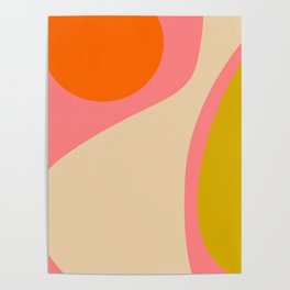 abstract composition modern blush pink Poster