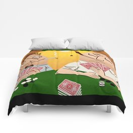 Poker Faces Comforters
