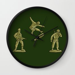Skaters Lead the Way | Boards, Bros & Toy Soldiers Wall Clock