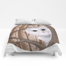 curious owl Comforters
