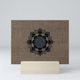 Lotus Mandala on Fabric Mini Art Print