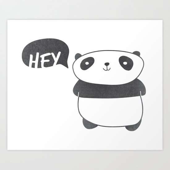 Panda Friend Art Print