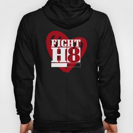 Fight Hate H8 Peace Kindness Stop Racism Bullying Red Hoody