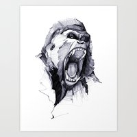 fierce Art Prints featuring Wild Rage by Philipp Zurmöhle