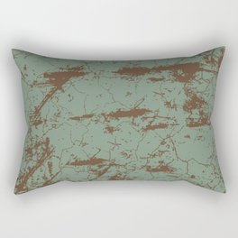 cracked concrete vintage wall background,old wall Rectangular Pillow