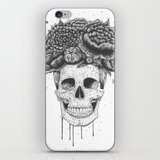 Skull with flowers iPhone & iPod Skin