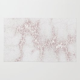 Marble Pattern Silver Rosé Rug
