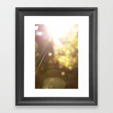 Sunspots Framed Art Print