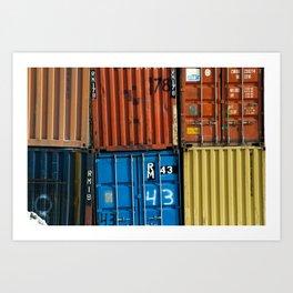 Pointe St. Charles Shipping Closeup Art Print