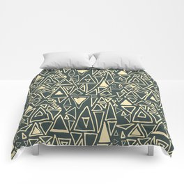 Chaotic Angles in Slate by Deirdre J Designs Comforters