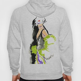 fashion #48: a woman in a fur jacket Hoody