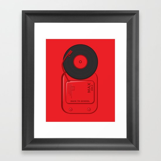 Musical School Bell Framed Art Print
