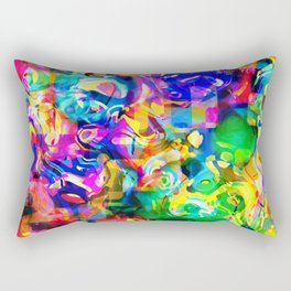 Psychedelic Abstract Rectangular Pillow