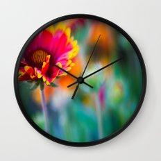 Blanket Flower Wall Clock