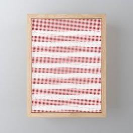 Red Diamonds Gross Stripes Framed Mini Art Print