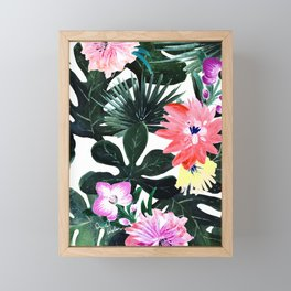 Lush Tropical Floral Framed Mini Art Print