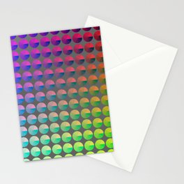 Rainbow pie chart pattern Stationery Cards