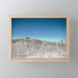 ALASKIAN WINTER NIGHT - ALASKA AURORA - FAIRBANKS NORTHERN LIGHTS Framed Mini Art Print