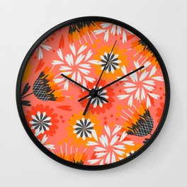 Sweet floral spring pattern Wall Clock