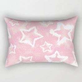 Light Pink Tie Dye Stars Rectangular Pillow
