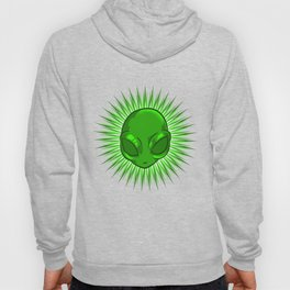 Alien In Bursting Star T-Shirt Extraterrestrial Space Tee Hoody
