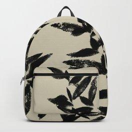 tan and black leaves print Backpack