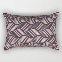 Coral waves Rectangular Pillow