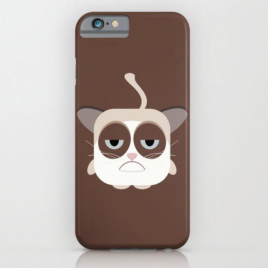 Grumpy Chubby Cat iPhone & iPod Case