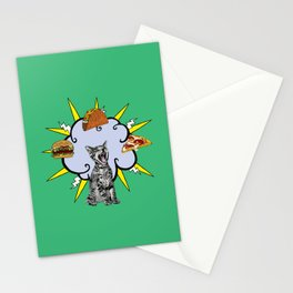 Cat Food Stationery Cards