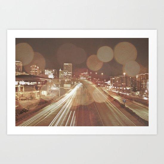 Light Streaks Art Print