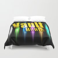 borderlands Duvet Covers featuring Borderlands Tribute -  Vault Hunter by ReverendRyu